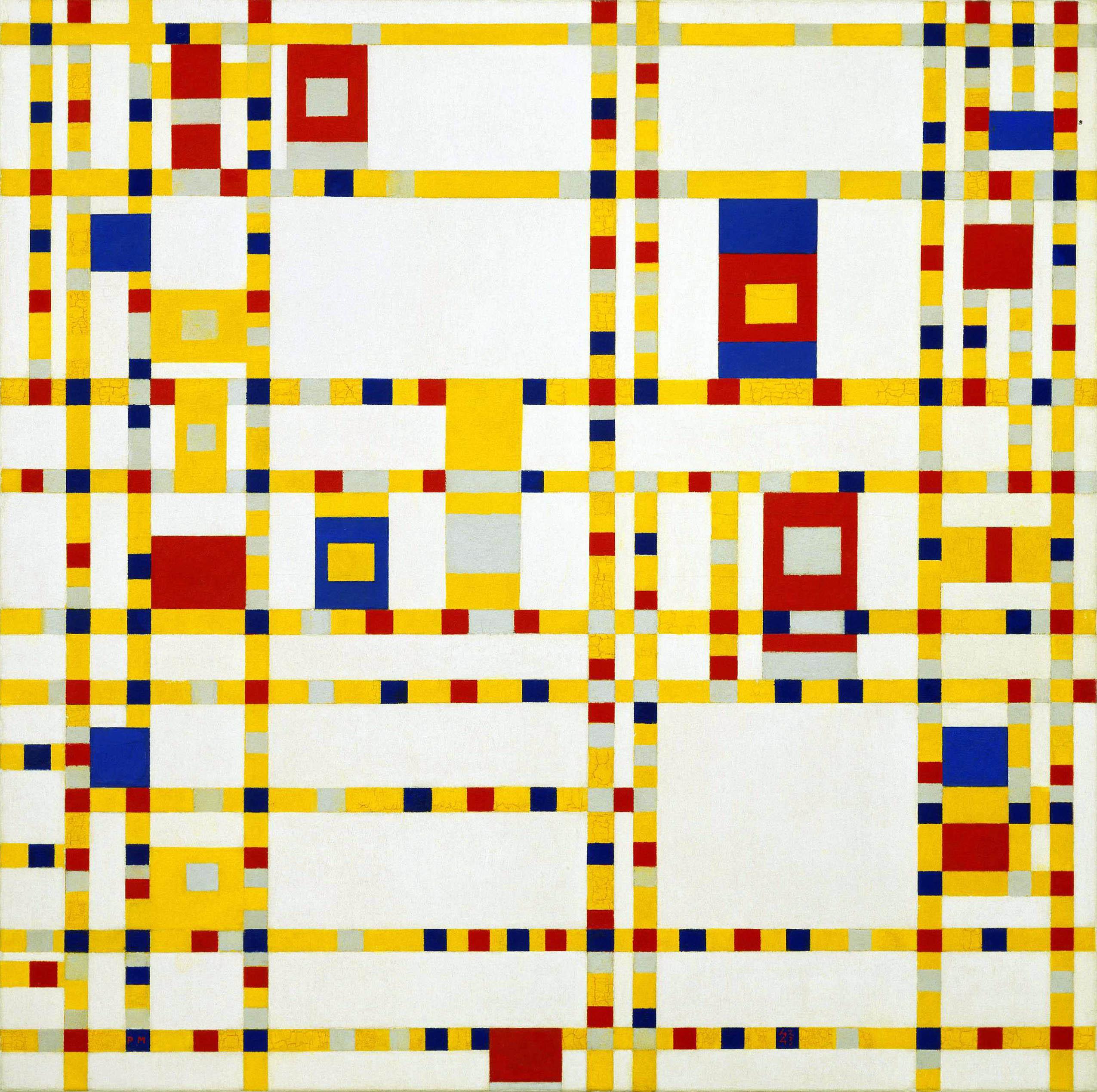 Пит Мондриан - картина «Буги-вуги на Бродвее»   Piet Mondrian - Broadway Boogie Woogie